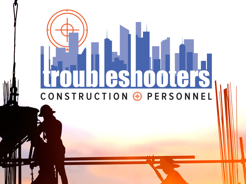 Logo and Branding Design for Troubleshooters Construction Personnel